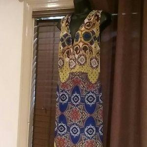 Mll Gabrielle multi colored maxi dress 3x